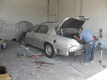 lincoln prepping auto body paint collision